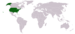 The location of the United States