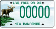 New Hampshire Conservation License Plate