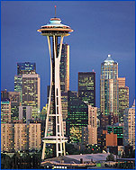 The Space Needle and the Downtown Seattle skyline