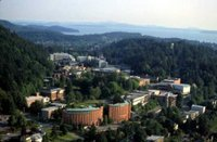 An aerial view of Western Washington University in Bellingham